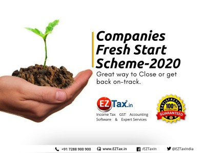 Companies Fresh Start Scheme 2020 EZTax.in