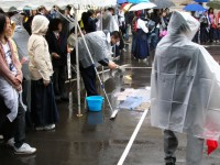神宮大会雨の中