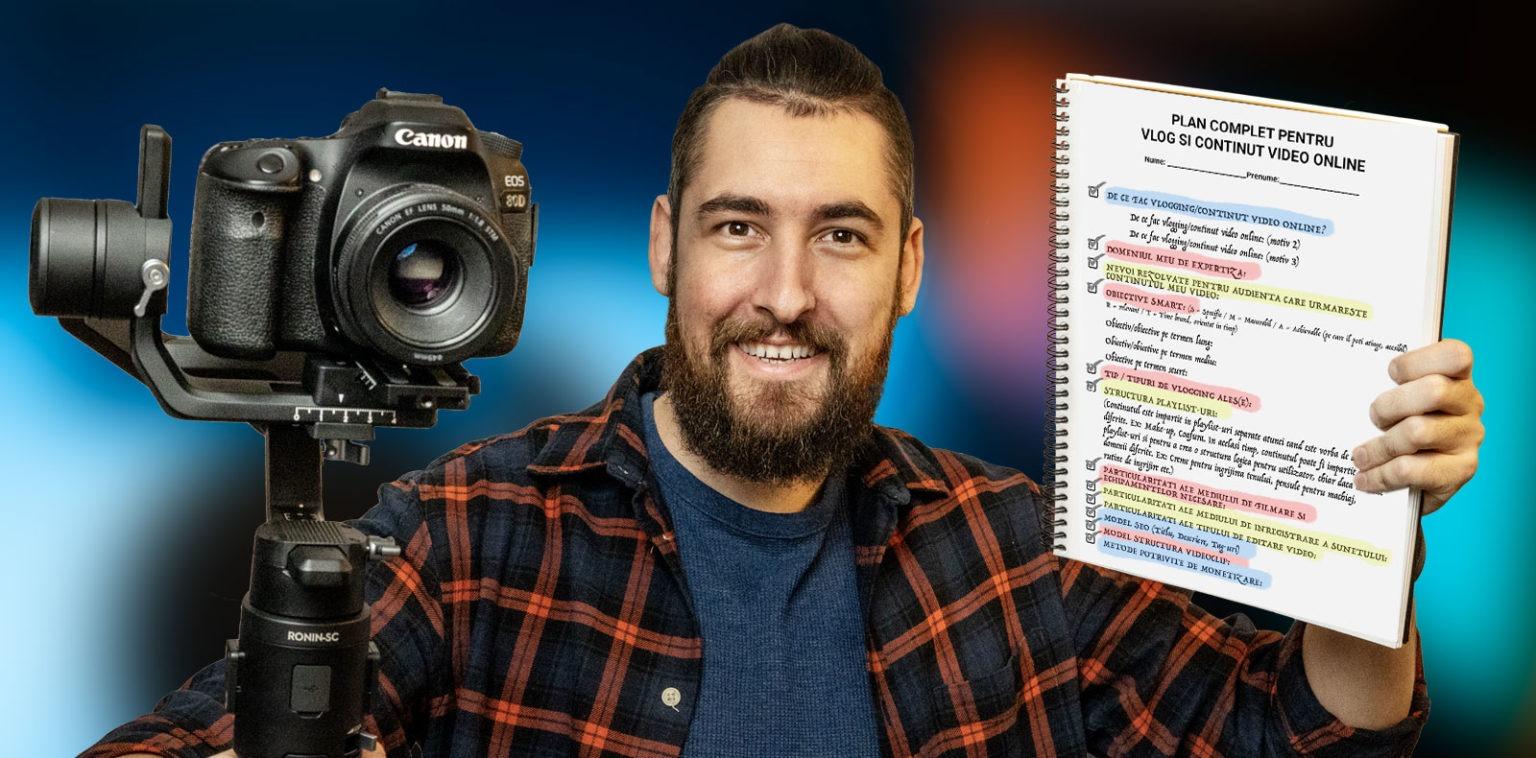 Curs online – Planul de start pentru vlogging și creație cu Gabriel V. Barna