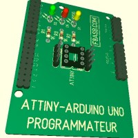 Shield Arduino: Programmateur ATtiny sur Arduino Uno
