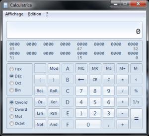 Calculatrice pour les programmeurs