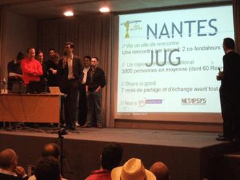 Soirée d'ouverture du premier JUG à Nantes il y a plus d'un an