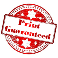 Printing guaranteed logo