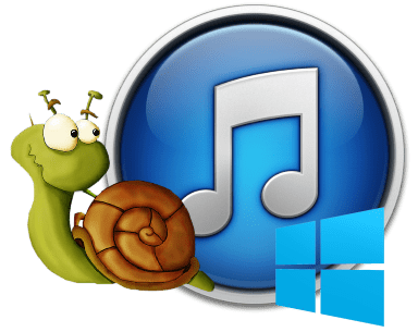 iTunes logo with a snail