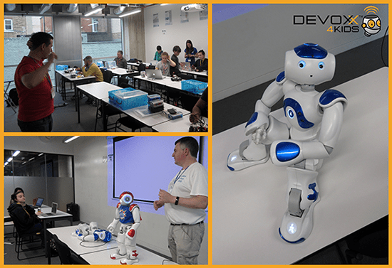Devoxx4Kids 2018 in London - Collage