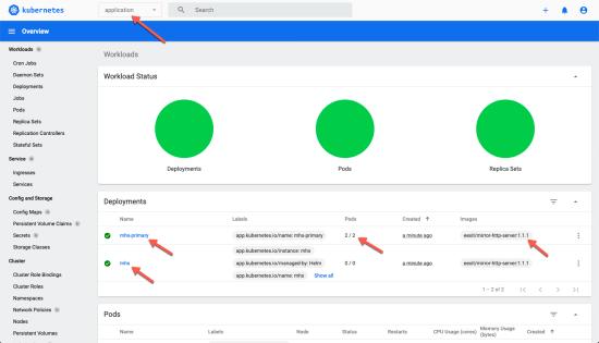 MHS 1.1.1 est déployé dans votre cluster