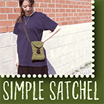 SIMPLE KNITTED SATCHEL