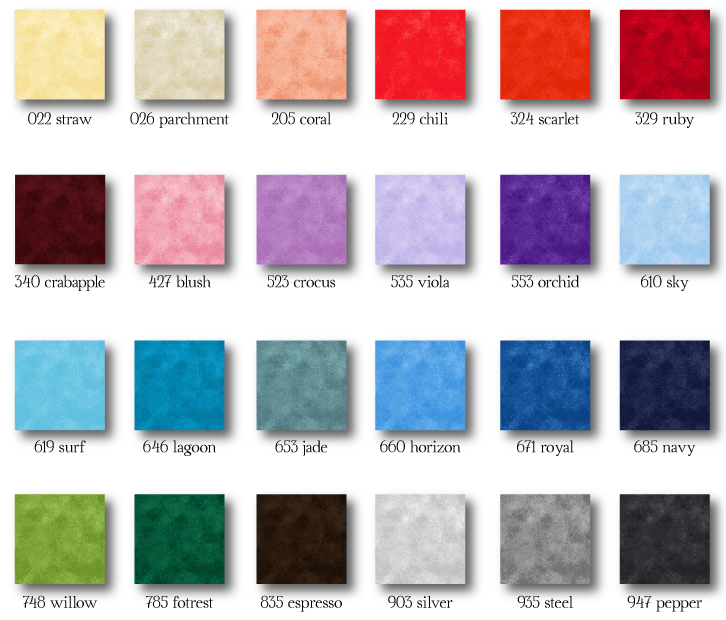 Quilting cotton design Shadowplay colour card