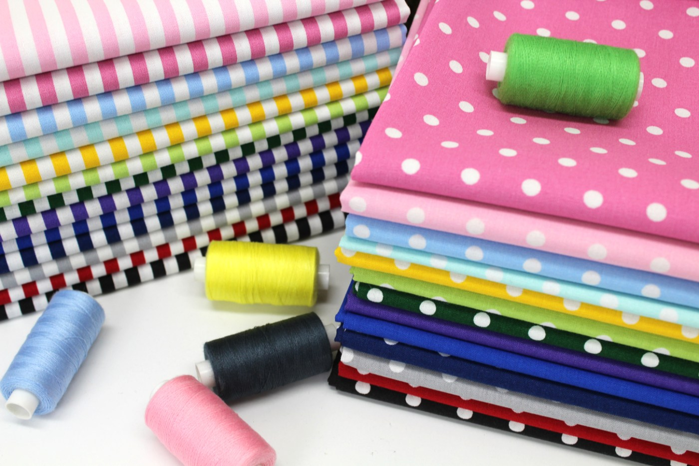 .5 cm dot and stripe fabric stack photo