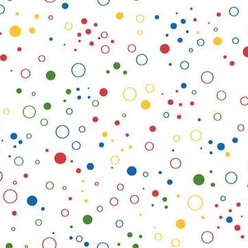 primary coloured dots and circles