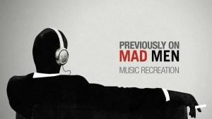 Previously on Mad Men Episode Summary Music - Mad Men's Don Draper with Headphones