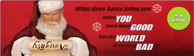 Santa's Taser ad