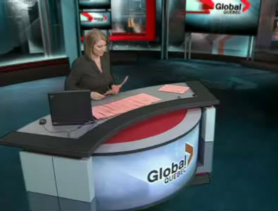 Global Quebec's new news set