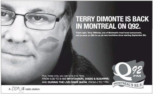 Ad for Terry DiMonte in Monday's Gazette