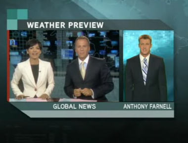 Anthony Farnell does Global Ontario's local forecast