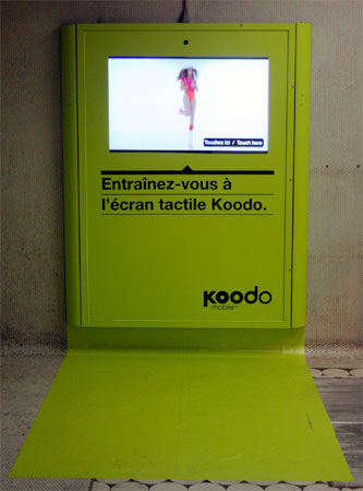 Interactive Koodo ad at Peel metro