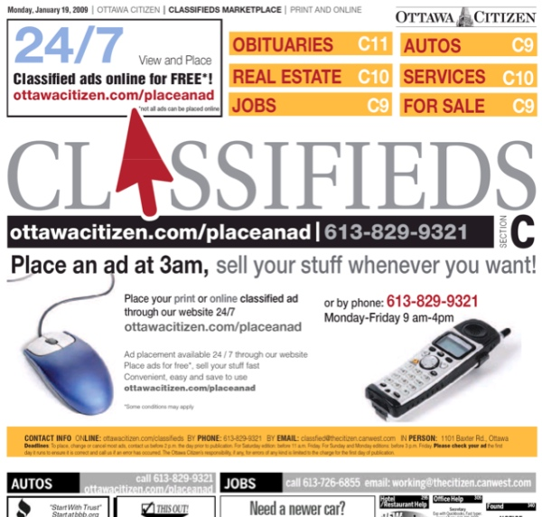 gazette takes classifieds online fagstein
