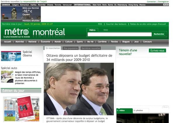 Metro newspaper website