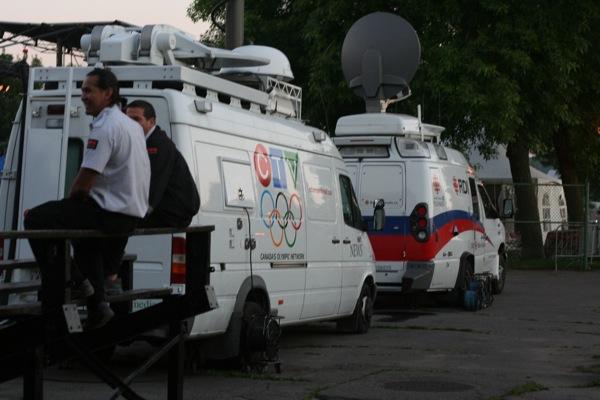 TV vans