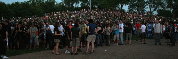 More crowd