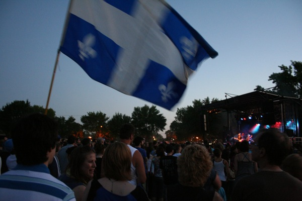 This one won the prize for most giant Quebec flag