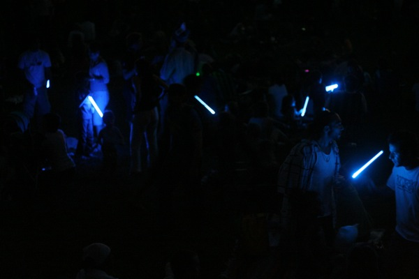 Blue ... lightsabres? ... were in ample supply.