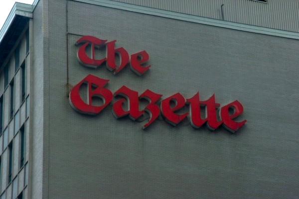 The old Gazette building on St. Antoine
