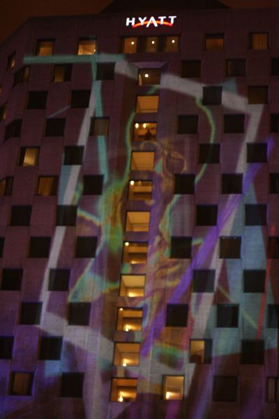 Another projection, this time on the Hyatt