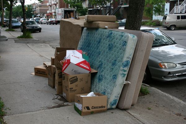 Mattresses are a common Moving Day staple - and least likely to be picked up by scavengers