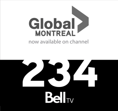 Half-page ads from Global Montreal appearing in The Gazette