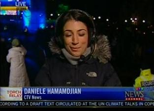 Daniele Hamamdjian reporting for CTV in Ottawa