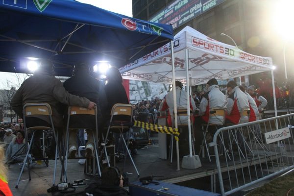 CTV and RDS tents side by side