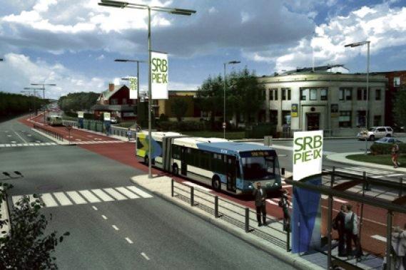 Government mockup of rapid-transit corridor on Pie-IX
