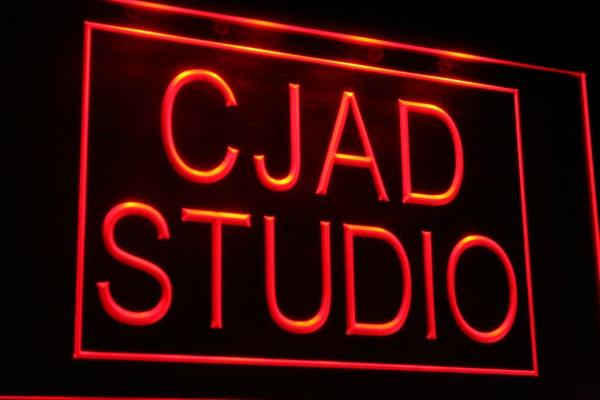 CJAD studio sign