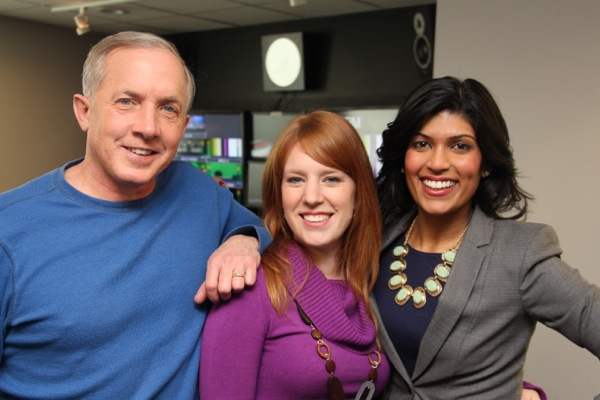 Global Montreal morning show cast, from left: Richard Dagenais, Jessica Laventure, Camille Ross