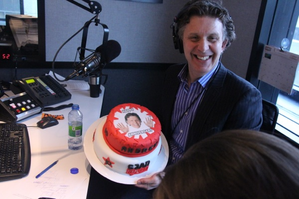 Andrew Carter with anniversary cake