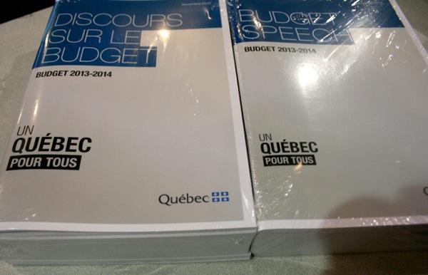 "Budget packages. Notice the ""Un Québec pour tous"" is smaller on the English version"