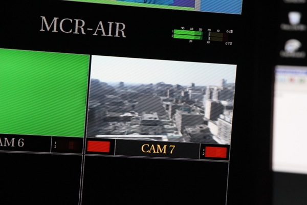 The roof camera is controlled with a joystick in the control room
