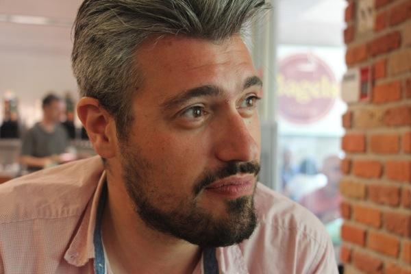 Dimitrios Koussioulas and his hair.