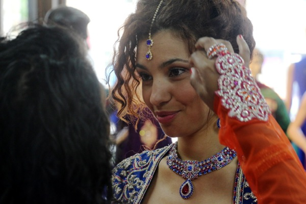 Tamy Emma Pepin, while shooting a story about preparing for an Indian wedding