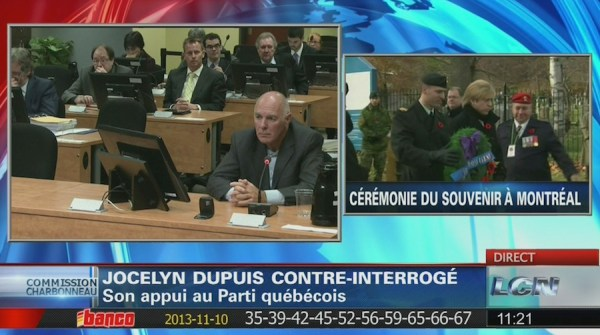 LCN stuck between the Charbonneau Commission and Remembrance Day ceremonies