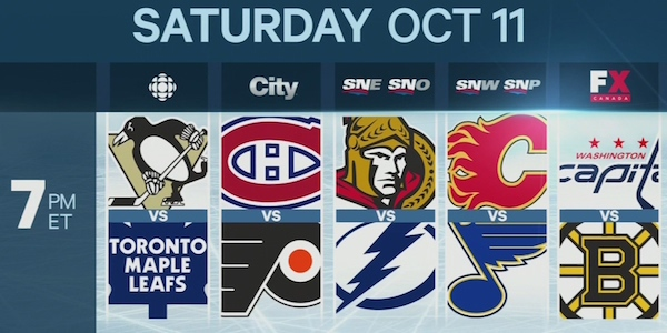 Sportsnet's regional channels will be split on Oct. 11