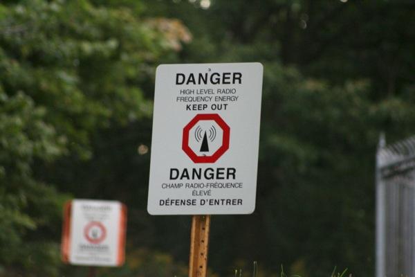 RF danger sign
