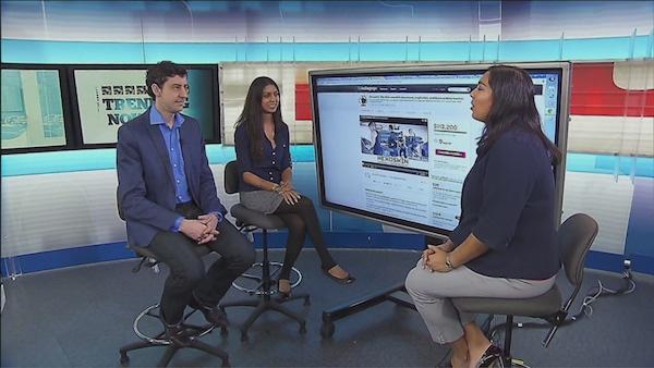 The tech panel with Thomas Ledwell, Molly Kohli and Sonali Karnick