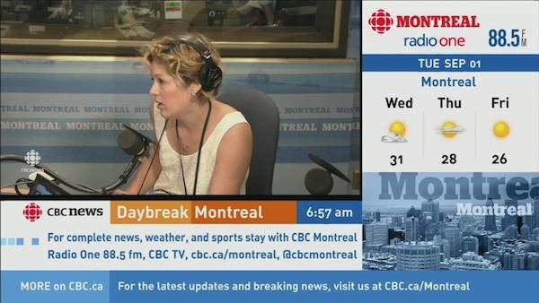 Sports reporter Andie Bennett.