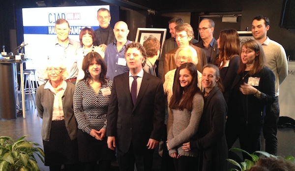 Andrew Carter with staff, former staff and special guests.