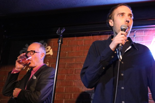 Ron and Rod Francis take turns during a father-and-son act