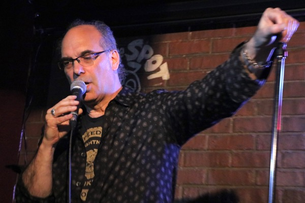Mitch Melnick performs a standup routine during One Mic Stand at Comedyworks Wednesday night.