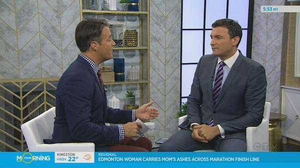 Ben Mulroney with Evan Solomon, new host of Question Period.