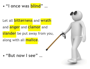 blind man once was blind now see